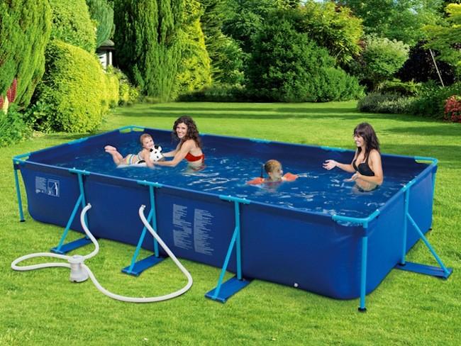 Piscinas carrefour piscina de armao redonda em pvc mor for Piscina rectangular desmontable carrefour