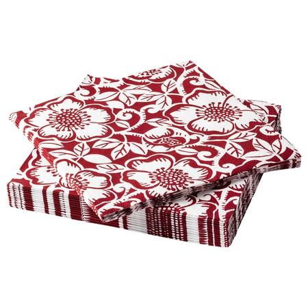 Vinter 2020 Servilleta Papel Motivo Rosa Navidad Rojo Blanco 0888753 Pe782174 S5