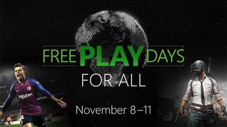 Vuelven los Free Play Days For All: multijugador, PUBG y PES 2019 para todos del 8 al 11 de noviembre en Xbox