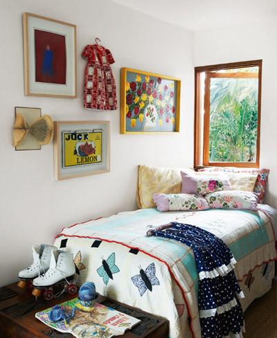 Dormitorio de estilo retro