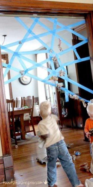 Juegos Actividades Ninos Casa Cinta Adhesiva Telarana