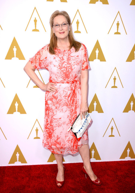 Meryl Streep Nyongo Oscar nominados almuerzo