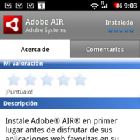 Android recibe Adobe Air