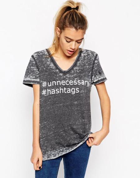 Asos Camiseta Hashtags