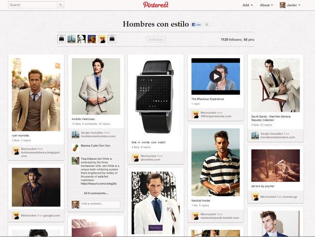 Trendencias Hombre en Pinterest