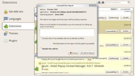 Habilita cualquier extensión en Firefox 4 beta sin tocar el about:config