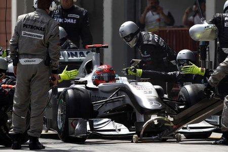 Mercedes GP, los más rápidos en boxes