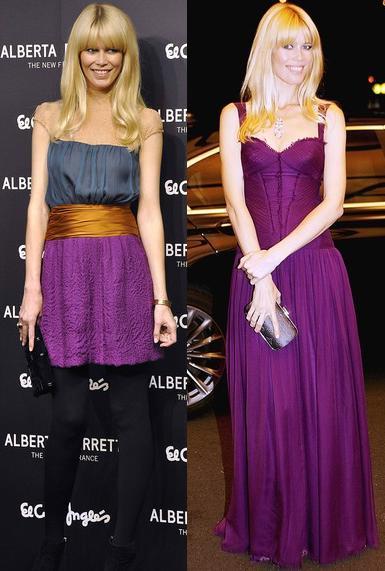 Los looks de Claudia Schiffer en Madrid