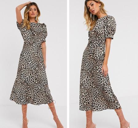 Vestido Midi Leopardo Asos