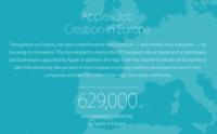 Apple presume del empleo que ha creado en Europa en una nueva web