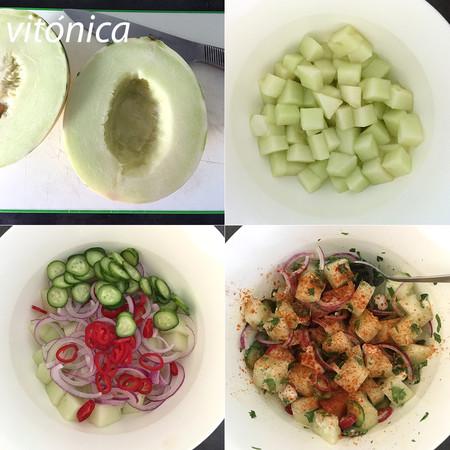Ensalada de Melon. Pasos