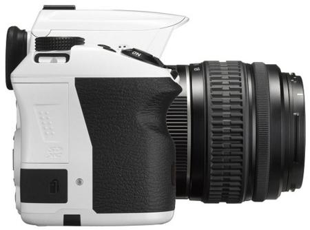 Pentax K-30 en color blanco