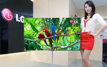 LG muestra su televisión OLED de 55 pulgadas