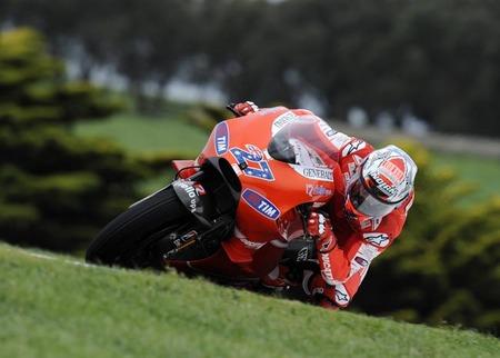 Ducati GP10 con Casey stoner Phillip Island 2010