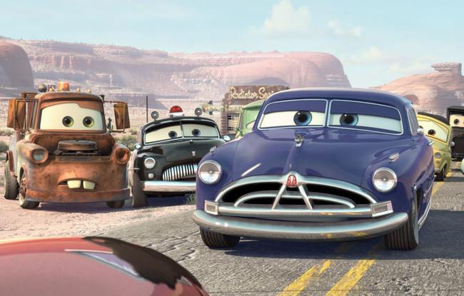 El personaje de Paul Newman en Cars