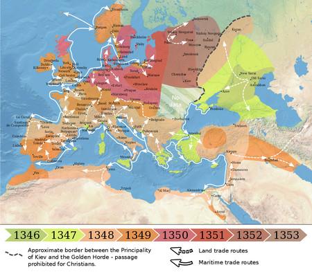 Mapa Peste Negra