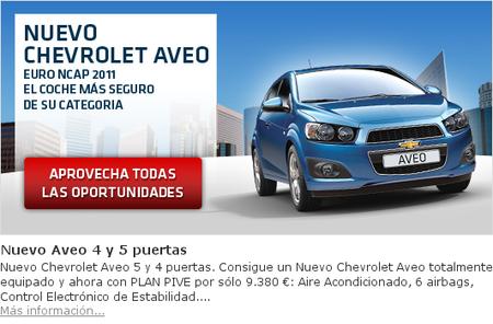 Oferta Chevrolet Aveo