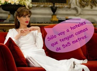 Angelina Jolie... pero ¿de qué tamaño es tu cama?