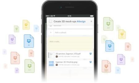 Wunderlist para iOS añade integración con Dropbox, una importante mejora