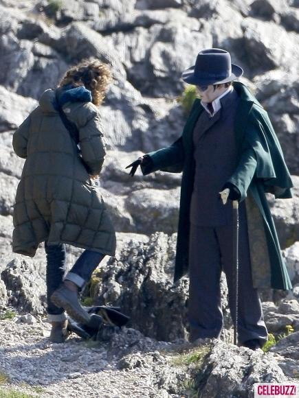 Foto de 'Dark Shadows', fotos de Johnny Depp en el rodaje (2/4)