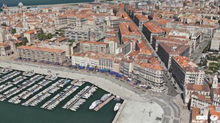 Vista Flyover de los Mapas de Apple (Marsella)