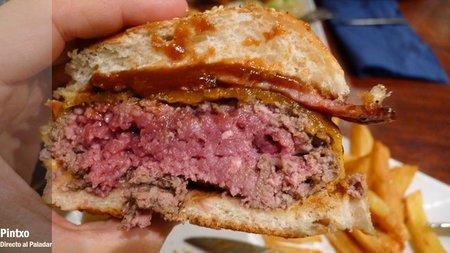 Punto de la carne de las hamburguesas
