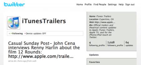Oficial: canal de Apple en Twitter para anunciar las novedades en trailers