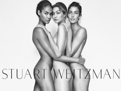 ¿Te fijas en los zapatos de Stuart Weitzman con Gigi Hadid, Joan Smalls y Lily Aldridge posando desnudas?