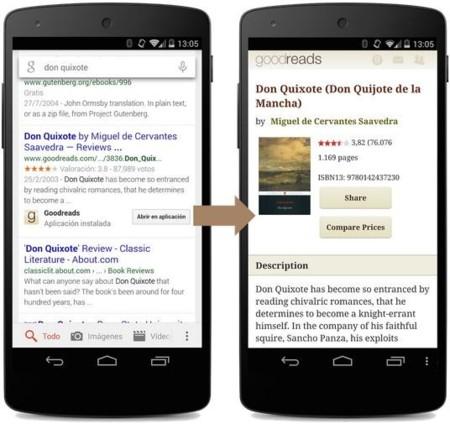 Google Search permite en todo el mundo abrir los resultados en aplicaciones, aunque solo en inglés