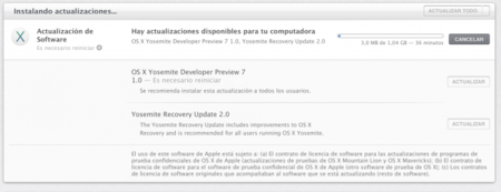 Apple lanza beta 7 de OS X Yosemite