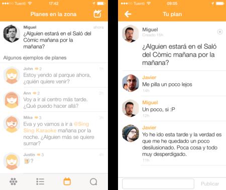 swarm quedada mensajes foursquare app iphone