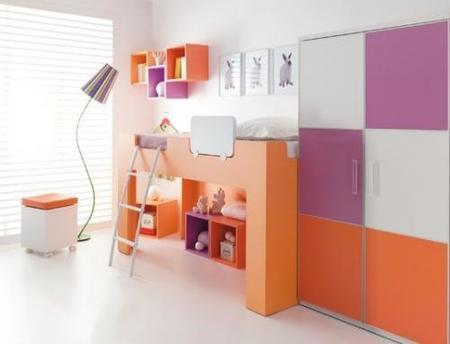 dormitorio rosa y naranja avant haus