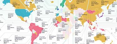 Los hoteles más antiguos del mundo aún en funcionamiento, reunidos en este estupendo mapa