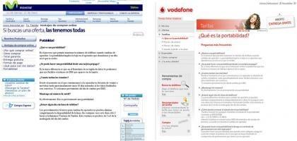 Movistar y Vodafone escriben igual... en sus tiendas online