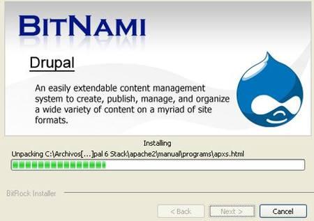 Bitnami instalación drupal
