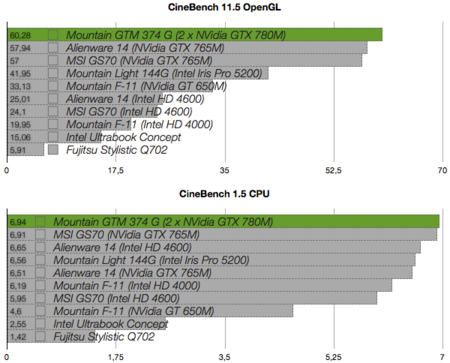 Mountain GTM 374G benchmarks