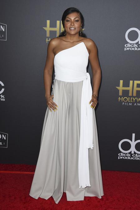 Taraji P Henson hollywood film awards 2018 red carpet look