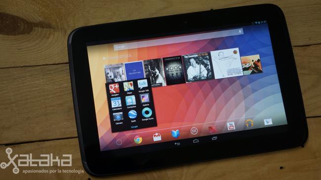 Nexus 10 pantalla principal