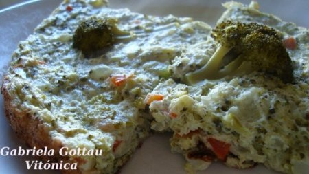 Pastel de brócoli. Receta saludable