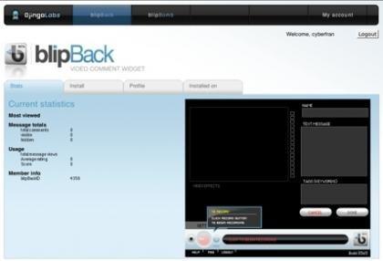Blipback, widget para los videocomentarios