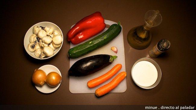 Verduras salteadas con salsa de pimienta - ingredientes