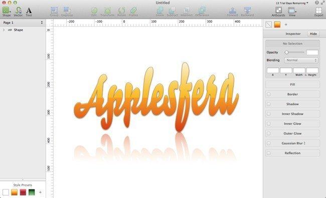 Jugando con Sketch 2.0 para hacer un logo de Applesfera
