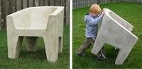 Muebles muy ligeros que parecen de hormigón