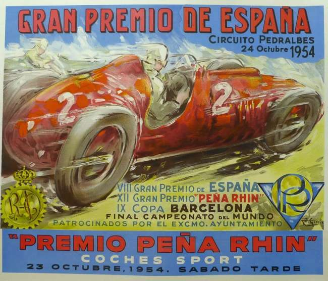 Póster Gran Premio Peña Rhin 1954
