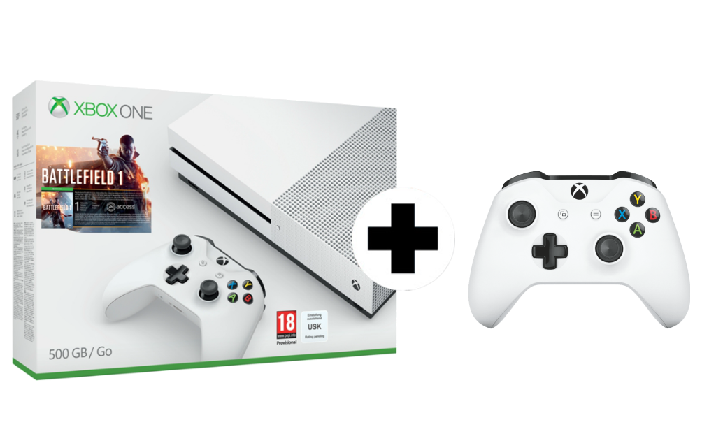 pack xbox one s en oferta consola con dos mandos y un. Black Bedroom Furniture Sets. Home Design Ideas