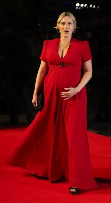 ¿Embarazada, con un señor bombo y divina en una alfombra roja? ¡Esa es mi Kate Winslet!
