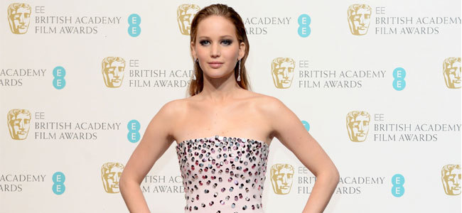 jennifer lawrence bafta 2013
