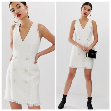 Vestido Tweed Blanco