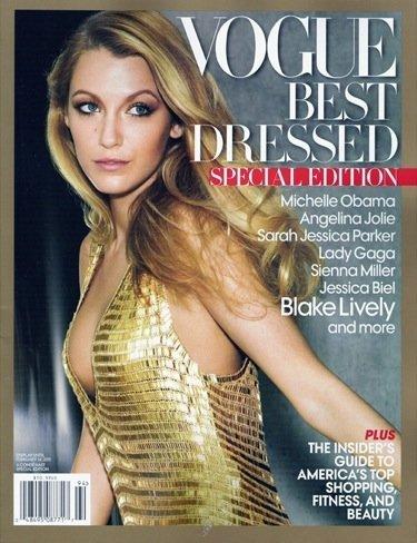 Blake Lively es la elegida por Vogue para la portada de las mejor vestidas de 2010
