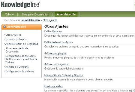 Administración Knowledge Tree